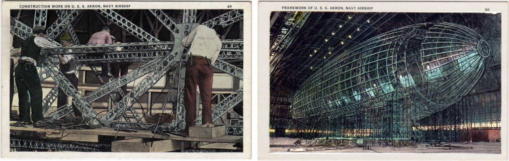 USS Akron under construction (click all photos to enlarge)