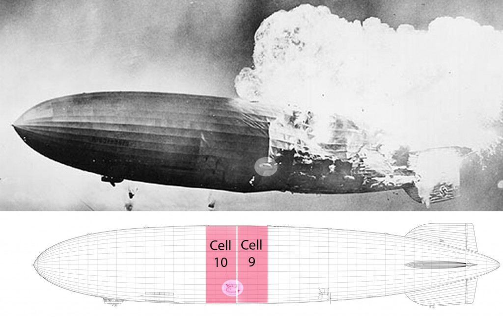 Gas cells 9 and 10; forward engine car highlighted to show alignment of images. (click to enlarge)