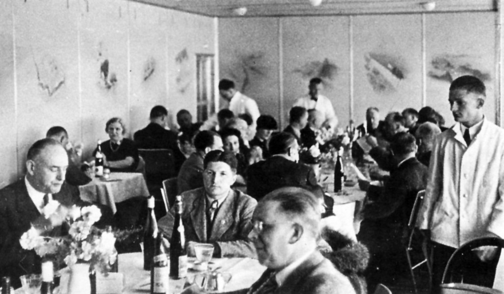 Dinner on the Hindenburg
