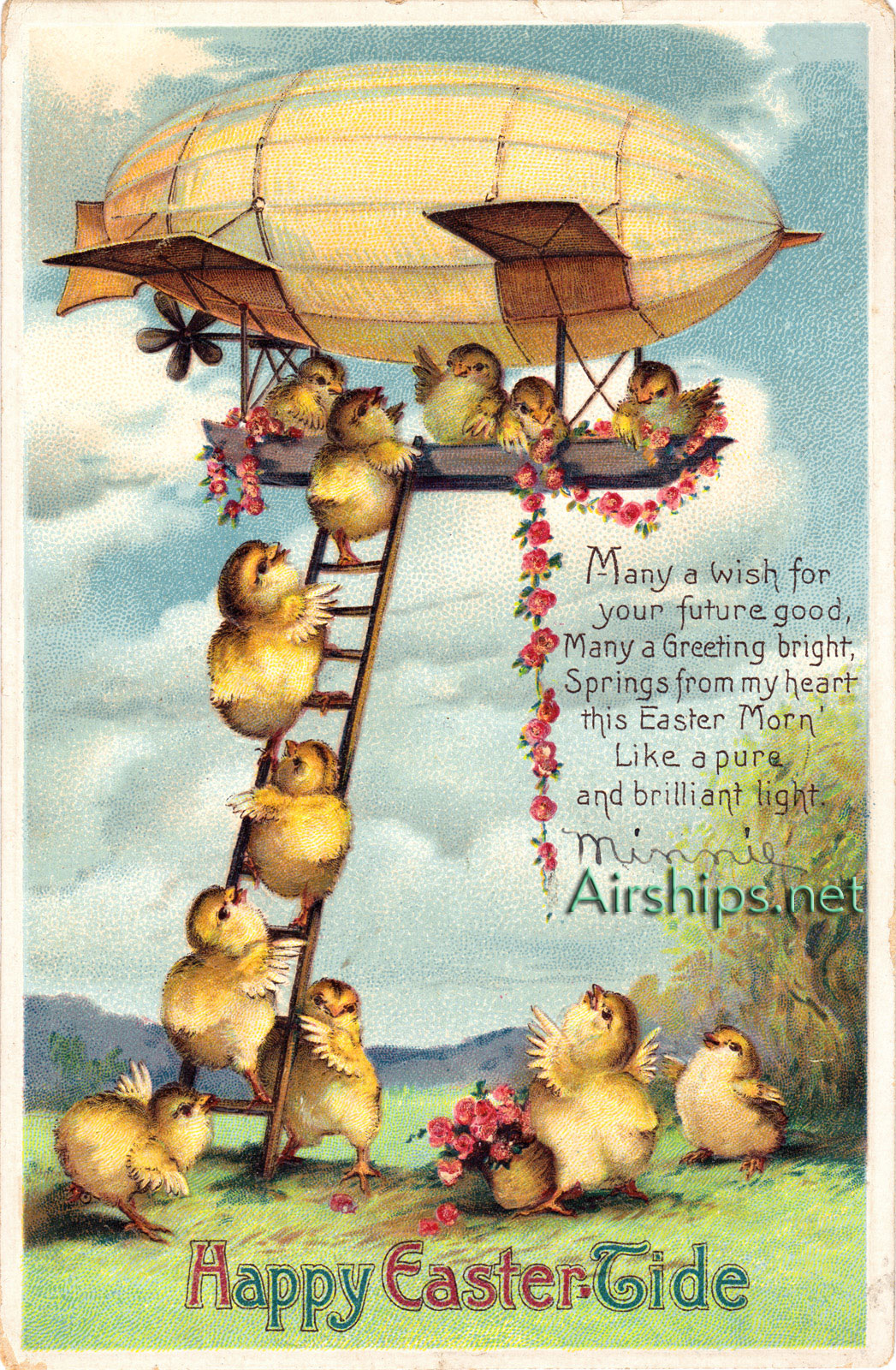 Airship Easter card
