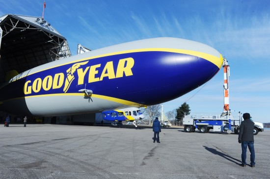The new Goodyear airship. (photo: Goodyear)