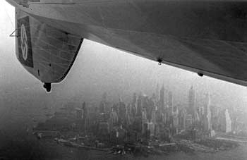 New York City beneath Hindenburg (photo from engine car)