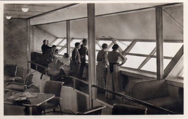 The Promenade aboard LZ-129 Hindenburg