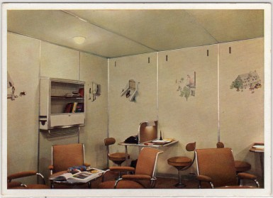 Writing and Reading Room of LZ-129 Hindenburg