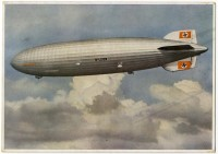 Hindenburg color postcard