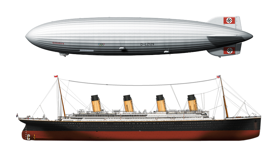 Titanic Hindenburg Comparison